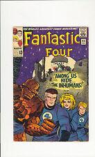 Fantastic Four #45 5.5 FN- Unrestored Marvel 1st Inhumans Medusa OW/W Pages