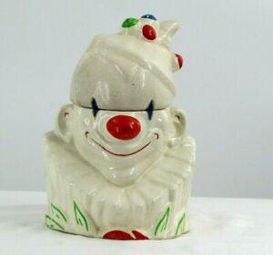 Vintage 1950's McCoy Creepy Evil Circus Clown Cookie Jar Horror Movie It