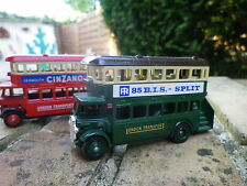 DAYS GONE by Lledo AEC REGENT BUS LONDON 85 BIS PROMO et CINZANO neuf sans boite