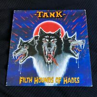 Tank Filth Hounds Of Hades LP vinyl made in Italy Heavy Metal NWOBHM KAM 42701