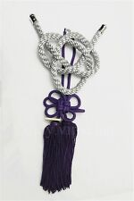 JP Kiku Knot Gray Kin Rope For Car Rearview Mirror Charms Chinese Mascot Purple