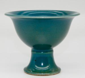 China antique Handmade Ming Dynasty Blue glazed porcelain old glass