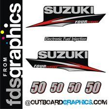 Suzuki DF50 four stroke outboard engine decals/sticker kit