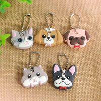 Silicone 1 Pc Key Ring Cap Head Cover Keychain Case Shell Animals Shape Lovely C