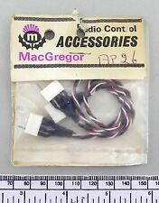 MacGregor part AP26 - servo 'y' lead - early type 4 pin  white plugs
