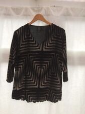 Try Womens Top Size 18 Stretch Jersey Black White Ex Condition