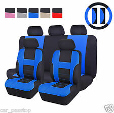 Car Seat Covers Steering Wheel Cover Seatbelt Cover Universal Fit Car Truck SUV