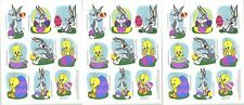 Looney Tunes Bugs Bunny Tweety EASTER Stickers 1995 3 Sheets!