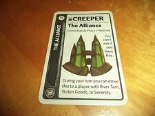 ALLIANCE PROMO CARD CREEPER Firefly Fluxx LOONEY LABS Deck Building Card Game