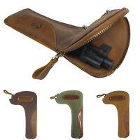 Durable Canvas Leather Rifle Bolt Bag Hunting Gun Bolt Storage Protect Holder