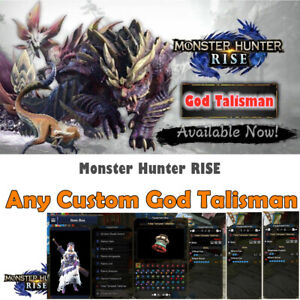 Monster Hunter Rise Any Custom God Talisman Mod, TOP Talisman package Not a Game