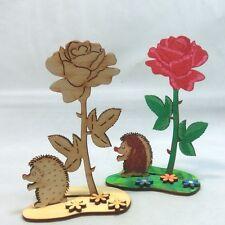 Legno Set Bricolage da Festa della mamma Compleanno Rosa ritto, Riccio Creativo