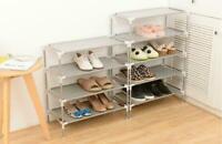 New 3/5/8/10 Tier Storage Organizer Cabinet Tower Shelf Space Saving Shoe Rack