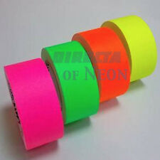 4 Rolls Neon UV Gaffer Tape 25mm 25m Fluorescent Tape Pink Green Orange & Yellow