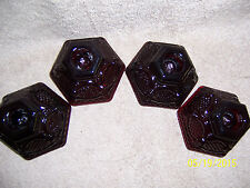 Avon Cape Cod Ruby Red 4 Candle Holders