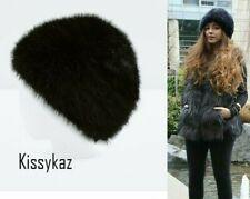 Black Faux Fur Hat by ZARA M BNWT