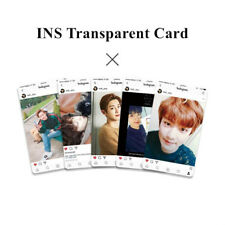 5pcs/Set EXO Ins Transparent Cards Kpop Fashion PVC Frosted Photocard CHANYEOL