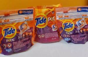 3 Pks. Tide Pods Laundry Detergent Spring Meadow 16 Ct Pods Ea. Ships free