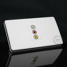 Wall Face Plate 3RCA AV Socket Panel Faceplate Outlet 120*70mm Home Adapter