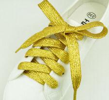 Stylish Glitter Sparkle Flat Shoe Laces (gold )