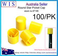 100pcs/PK Construction Safety Caps,Star Picket Steel Post Cap Yellow-67196