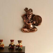 Wall Hanging Antique Figurine Lord Ganesha Figure Religious Metal Door Sculpture