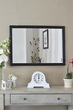 Large Wall Mirror Black Framed Modern Contempory 2ft8 x 2ft 83cm x 58cm