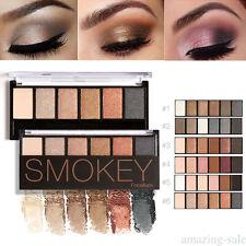 6 couleurs de maquillage glamour smokey terre ombre à paupières palette de pk9s