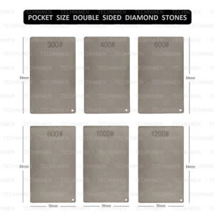 CARD SIZE DOUBLE SIDED DIAMOND STONE HONING SHARPENING RAZOR CUTTING TOOLS BLADE
