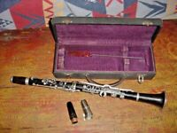 VINTAGE MARTIN FRES A PARIS WOOD CLARINET B LOW PITCH TILCO SUPER X MOUTHPIECE