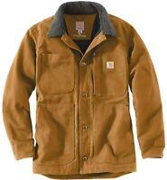 New Carhartt Brown Full Swing Chore Coat Barn Jacket Mens 102707 Duck Field NWT