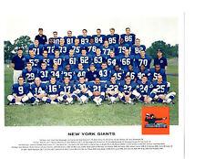 1962 TANG NEW YORK GIANTS 8X10 TEAM PHOTO TITTLE GIFFORD  FOOTBALL NFL