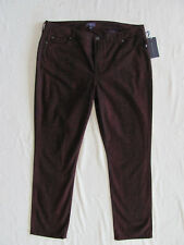 NYDJ Not Your Daughter's Jeans Sheri Skinny Plumberry Python -Size 16 NWT $130