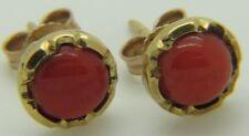 Pendientes de joyería de oro amarillo de 14 quilates