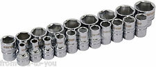 "20 Pce  Xi -on 3/8 "" Drive Socket Set -  super grab for damaged nuts with rail"