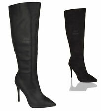 Zip Stiletto Heel Office 100% Leather Boots for Women