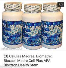 (3) Celulas Madres, Biomatrix, Bioxcell Madre Cell Plus AFA Bioxtron Health Stem