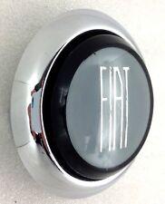 Genuine FIAT 500 logo Steering Wheel Horn Button. Noir. Gris. Argent.