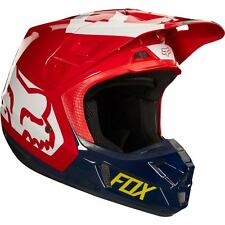 Fox Racing V2 Preme Navy/Red Helmet Medium Motocross ATV Offroad
