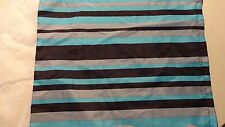 """BED SKIRT Bedskirt 39"""" X 73"""" X 15"""" Day Bed or Twin Black Turquoise Grey Stripes"""