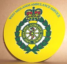 West Midlands Ambulance Service vinyl sticker.