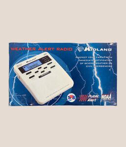 Midland WR-100 All Hazards Alert Weather Radio NOAA Storm Tornado Digital #A89