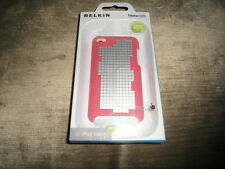 iPod Touch 4G 4th Generation Belkin Meta 028 Red/Silver Hard Case Sleeve Cover