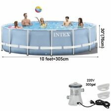 Intex 305*76 cm Round Frame Above Ground Set Pond Family Swimming Pool Filter