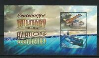 MAD326) Australia 2014 Submarines & Military Aircraft Minisheet MUH