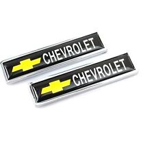 2PCS CHEVROLET Luxury Auto Car Body Fender Metal Emblem Badge Sticker Decal