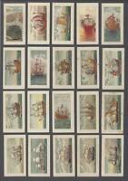 1930 Godfrey Phillips Evolution of the British Navy Tobacco Cards Near Set 41/49