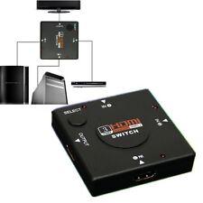 3 Port HDMI Umschalter Switch Splitter Verteiler 3 In 1 Out 1080p Full HD