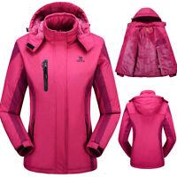 Women's Ski Jacket Waterproof Windproof Rain Long Jacket XL