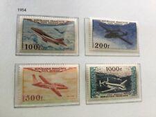 Lot 4 timbres France Poste aérienne 1954, neufs, sans charnières